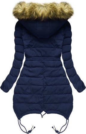 HOODED QUILTED JACKET NAVY BLUE (3502W)