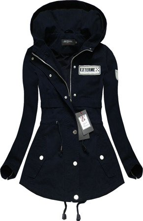 HOODED QUILTED JACKET NAVY BLUE (1726)