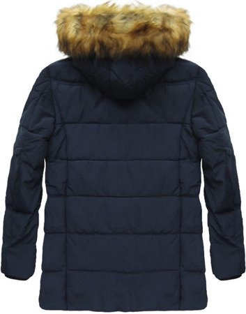 NATURAL DOWN WINTER JACKET NAVY BLUE (5015)