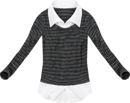 TWO-MATERIAL JUMPER PEWTER (GOOD99)