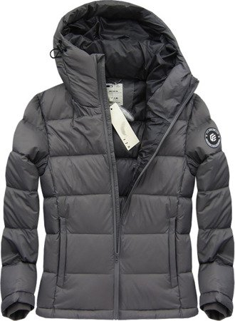 NATURAL DOWN QUILTED JACKET DARK GREY (5010)