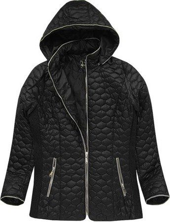 HOODED QUILTED JACKET BLACK (7029BIG)