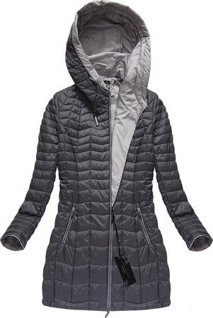 HOODED JACKET PEWTER (21715)