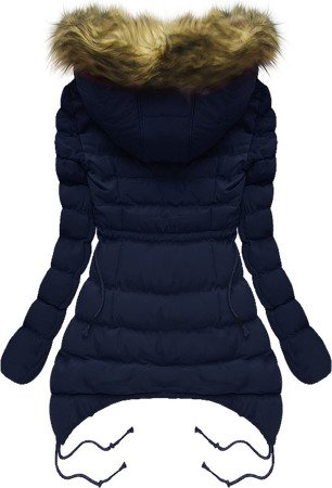 HOODED QUILTED JACKET NAVY BLUE (7209W)