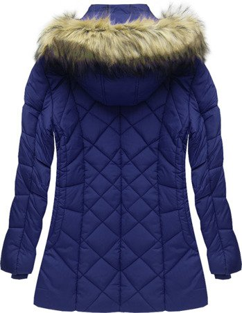 HOODED WINTER JACKET NAVY BLUE (7630#)