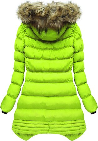 HOODED QUILTED JACKET LIME (W810)