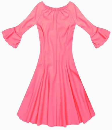 OFF SHOULDER DRESS NEON PINK (25102)
