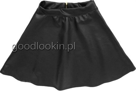 N&D ECO LEATHER SKIRT BLACK (N&D-22)