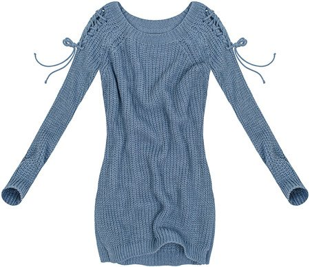 LACE-UP SHOULDER JUMPER BLUE (GOOD89)
