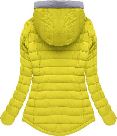 HOODED QUILTED JACKET YELLOW (W515)