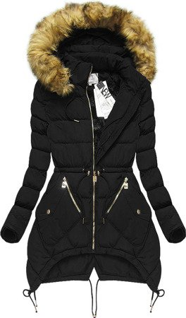 HOODED QUILTED JACKET BLACK (3501W)