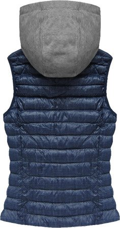 HOODED DOWN VEST NAVY BLUE (B3530-30)