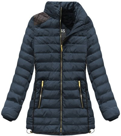 WARM HOODED JACKET NAVY BLUE (CX589)