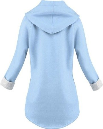 NEOPRENE HOODED BLAZER BABY BLUE (8008-1)