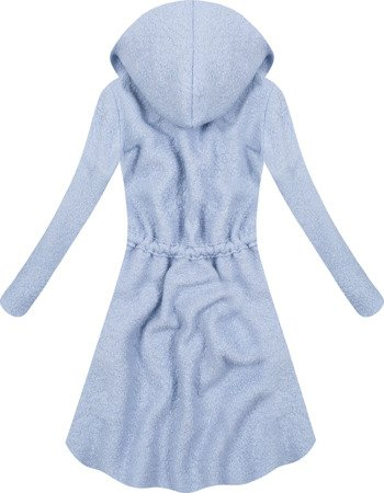 HOODED CARDIGAN WITH DRAWSTRING BLUE (22145)