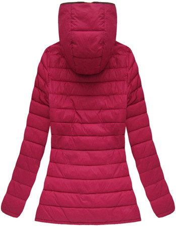 QUILTED HOODED JACKET WINE (7103BIG)