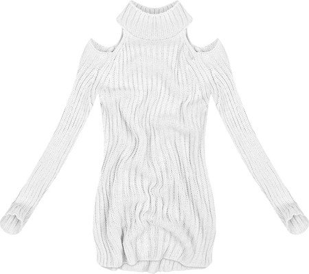 SHORT POLO NECK JUMPER WITH COLD SLEEVE WHITE (GOOD90)