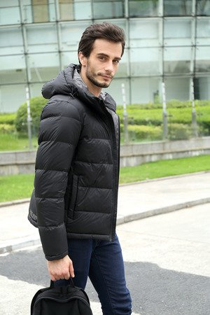NATURAL DOWN QUILTED JACKET BLACK (5010)