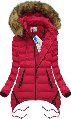 HOODED QUILTED JACKET RED (7209W)