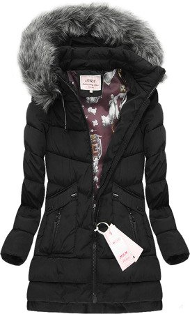 HOODED QUILTED JACKET BLACK (W522)