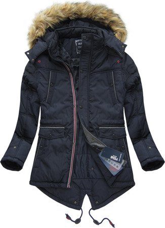 HOODED WINTER JACKET NAVY BLUE (777)