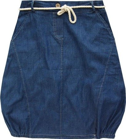 IMITATION DENIM SKIRT NAVY BLUE (GOOD56)