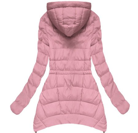 JACKET WITH BAGDES PINK (W507BIG)