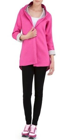 NEOPRENE HOODED BLAZER AMARANTH (8008-1)