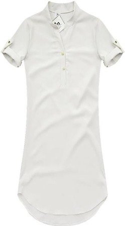 STRAIGHT CUT TUNIC SHIRT WHITE (GOOD60)