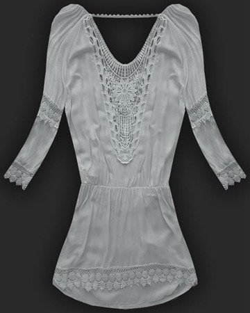 OPENWORK LACE TUNIC GREY (1178)
