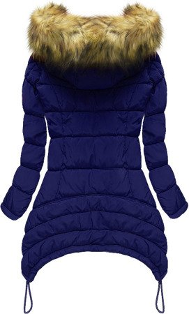 HOODED QUILTED JACKET CORNFLOWER BLUE (7673)