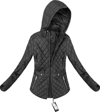 HOODED QUILTED JACKET BLACK (4183)