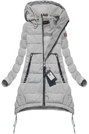 HOODED QUILTED JACKET GREY (1710)
