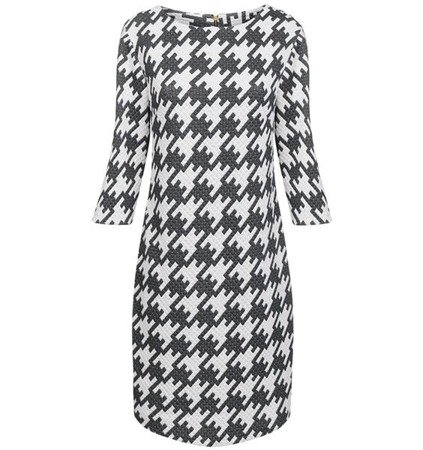 PATTERNED QUILTED DRESS GREY (S228)