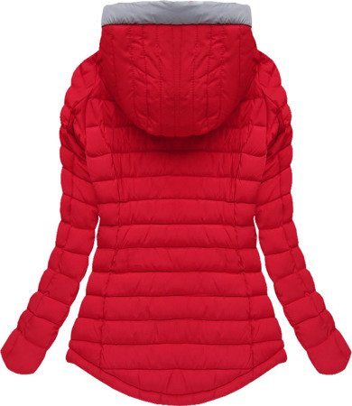 HOODED QUILTED JACKET RED (W515)