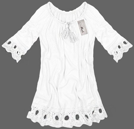 EMBROIDERED BOHO TOP WHITE (2006)