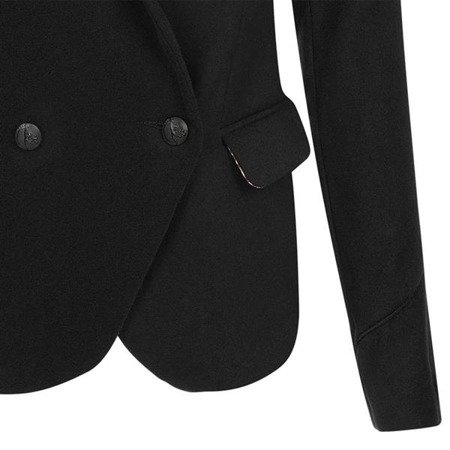 DOUBLE BREASTED DINNER JACKET BLACK (8106)