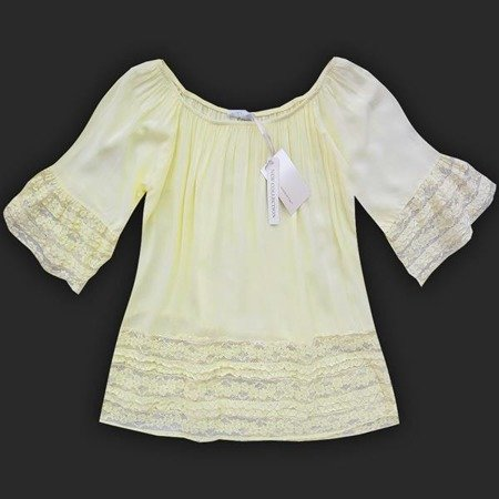 AIRY TOP WITH LACE DETAIL YELLOW (81642)
