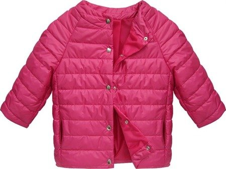 3/4 SLEEVE QUILTED JACKET AMARANTH (6628)