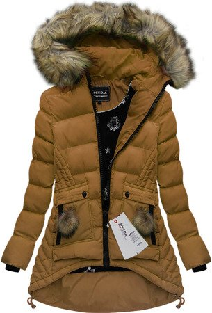 HOODED QUILTED JACKET CARAMEL (W811)