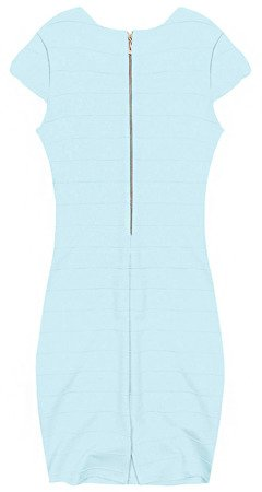 ZIP BACK BANDAGE DRESS BABY BLUE (210F)