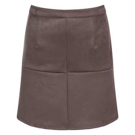 STITCH DETAIL SKIRT BROWN (SP7)