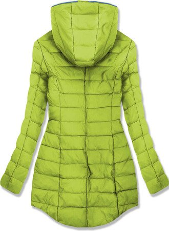 HOODED QUILTED JACKET LIME (7152)