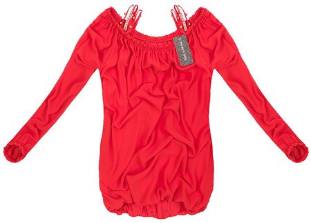 OFF SHOULDER TOP RED (GOOD100)