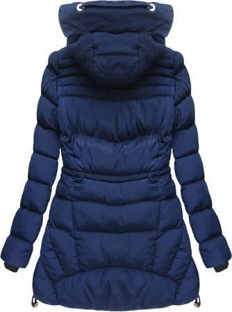 HOODED QUILTED JACKET NAVY BLUE (W809BIG)