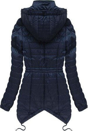 ASYMMETRIC BOTTOM JACKET NAVY BLUE (5511)