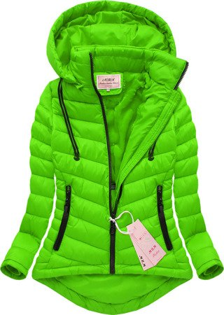 SHORT HOODED JACKET LIME (W519)