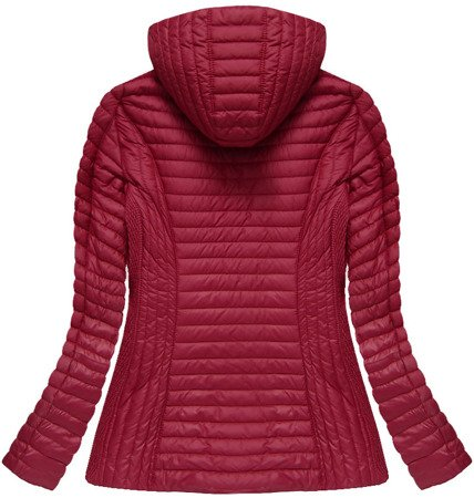 HOODED QUILTED JACKET WINE (7025BIG)