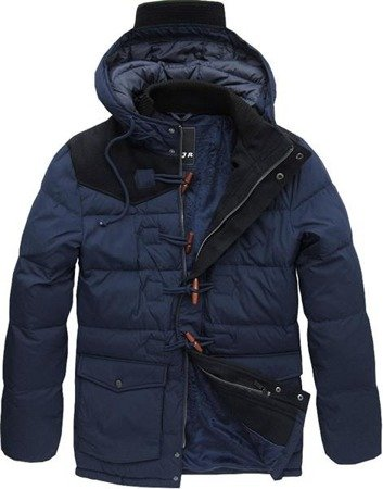 JACKET WITH FELT INSERTS NAVY BLUE (091LJ)