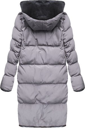 MID-LENGTH HOODED QUILTED COAT LILAC (8049)